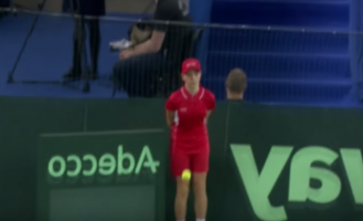 VIDEO: Ball Girl Who Was Hit by 100 mph Serve