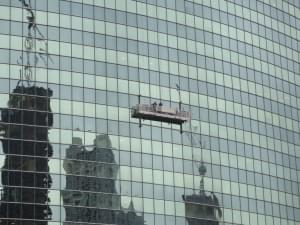 VIDEO: Window Washers Swinging Wildly In A Rig From An Oklahoma Skyscraper