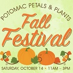 Potomac Petals and Plants Fall Festival is October 14th