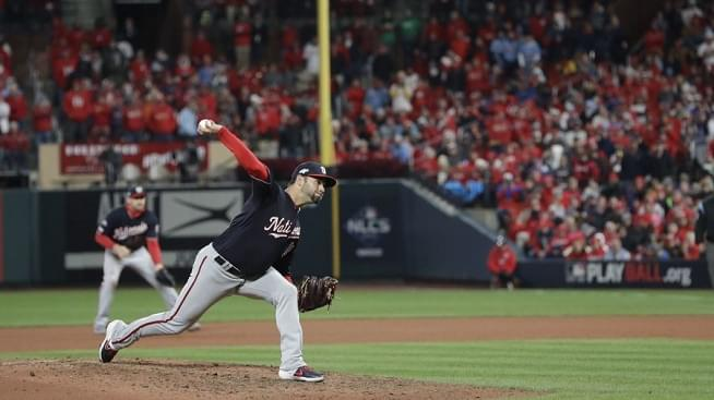 Nationals combine for 1-hitter to beat St. Louis Cardinals 2-0 in Game 1 of NLCS