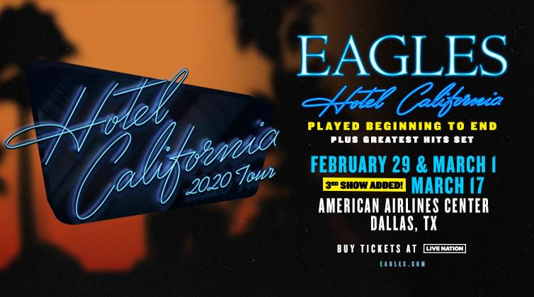 Win Tickets to Eagles Hotel California 2020 Tour