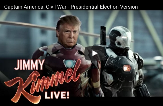 Jimmy Kimmel's Captain America: Civil War (Presidential Election Version) [VIDEO]