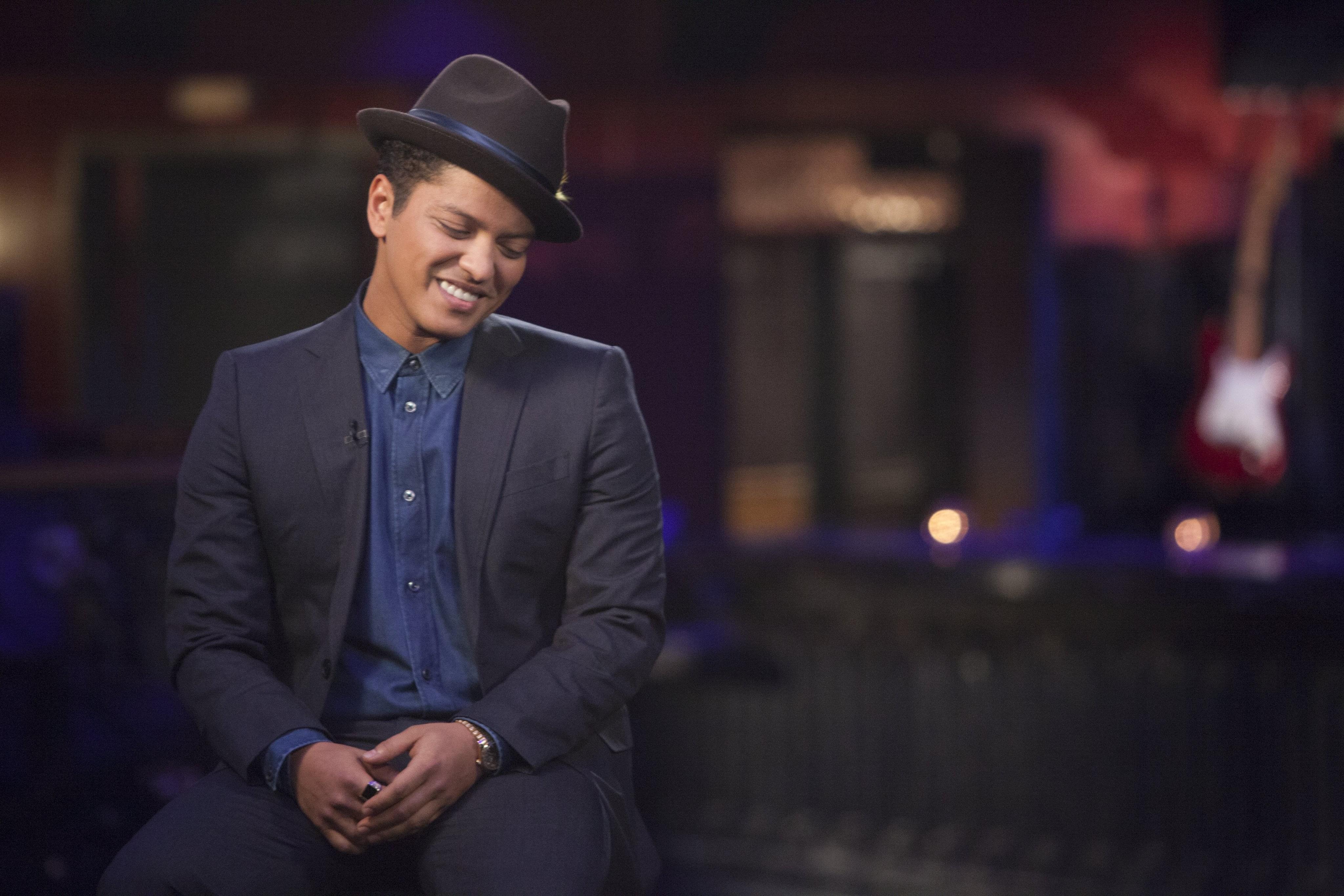 Bruno Mars Celebrates His Birthday With Ed Sheeran