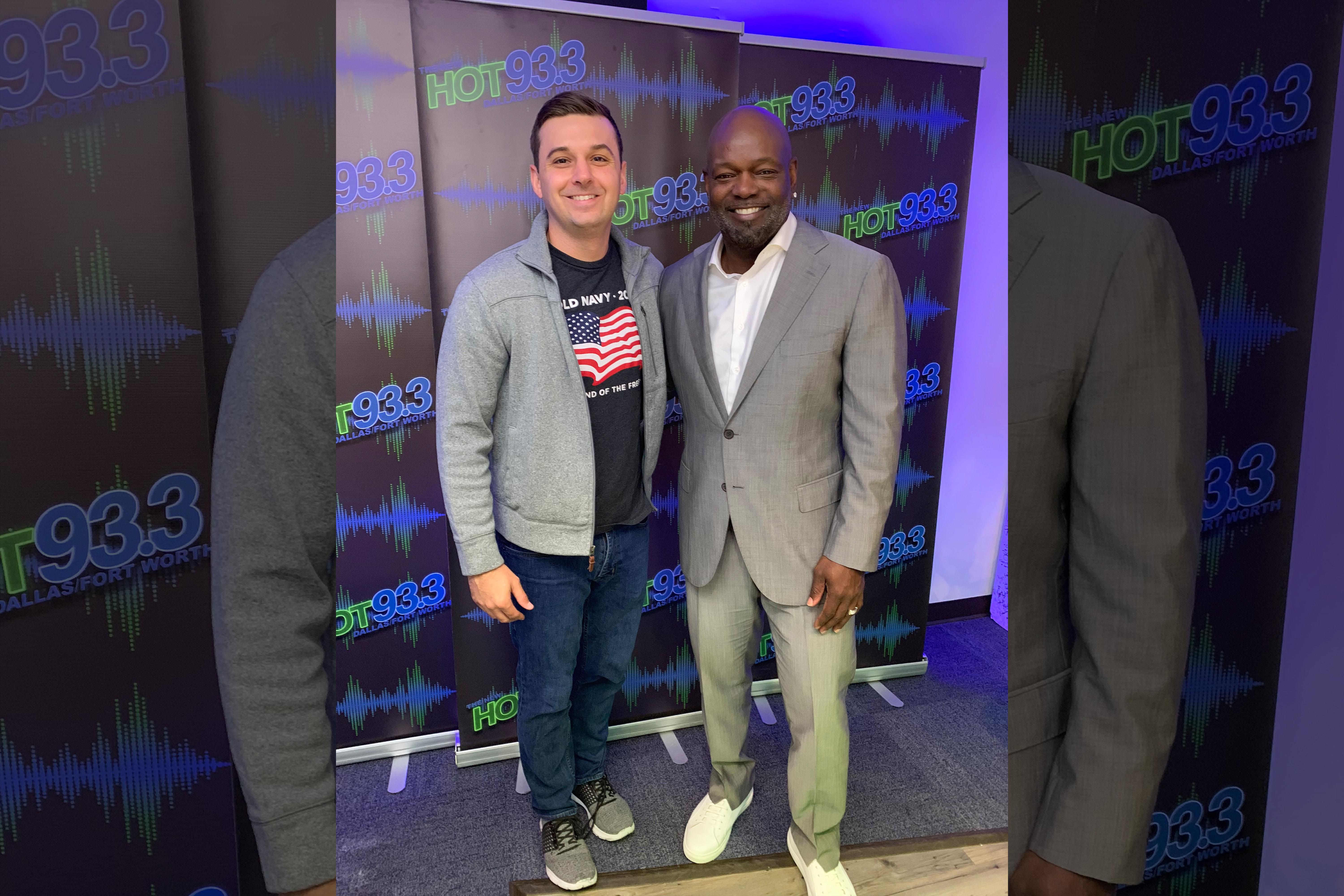 HOT 93.3 In Studio Session with Emmitt Smith