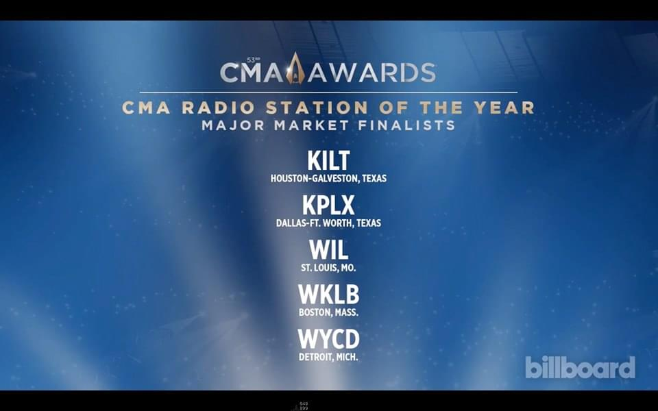 The Wolf Is Nominated For CMA Radio Station Of The Year!