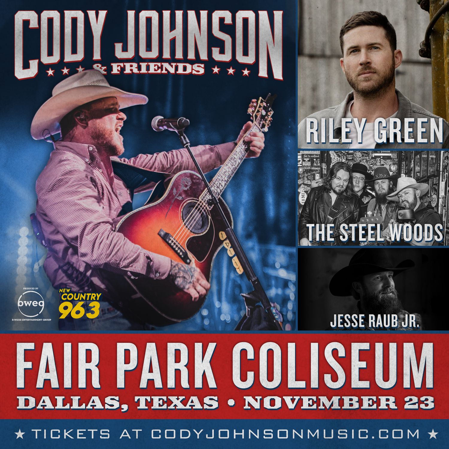 Cody Johnson & Friends | Fair Park Coliseum | 11.23.19