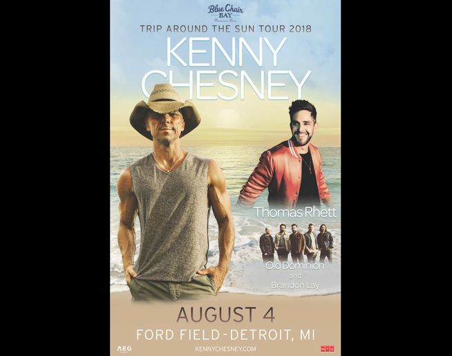 Kenny Chesney @ Ford Field in 2018!