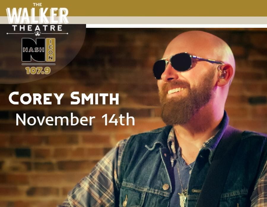 November 14th, Corey Smith @ Walker Theater