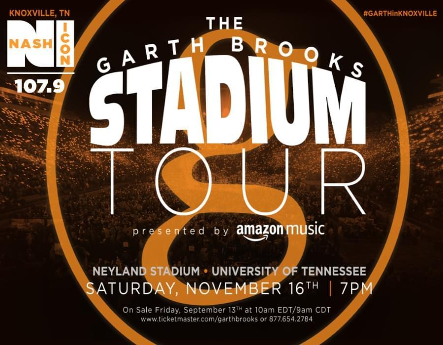 November 16th, Garth Brooks @ Neyland Stadium