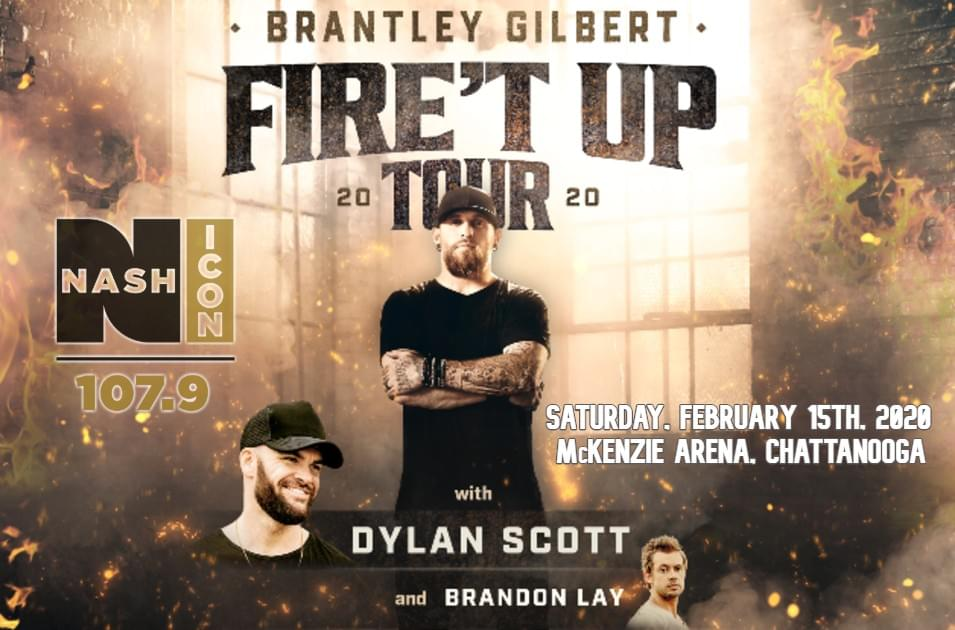 February 15th, Brantley Gilbert @ McKenzie Arena