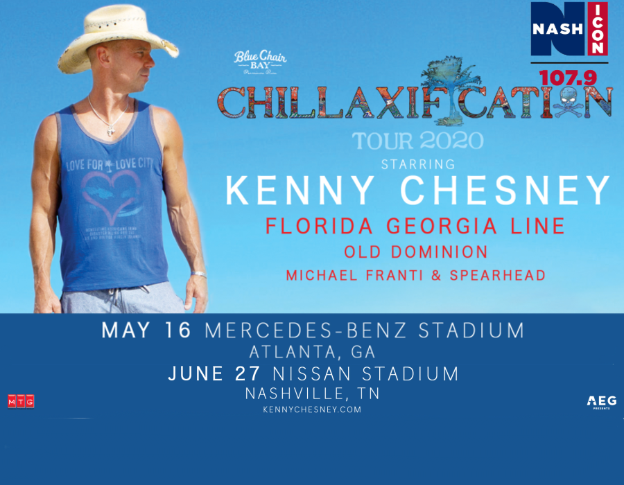 Kenny Chesney Chillaxification Tour 2020