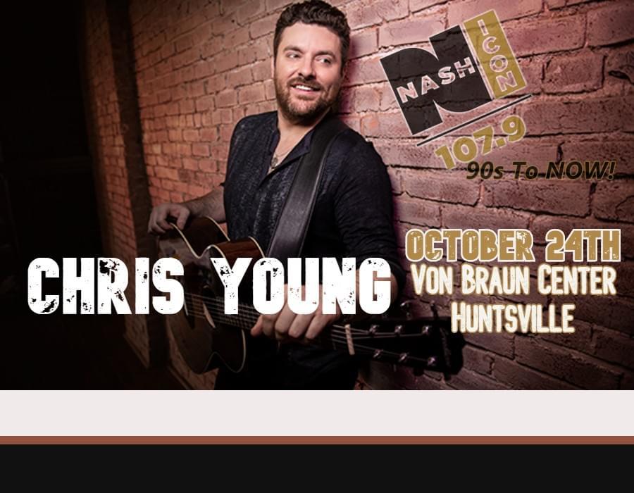 October 24th, Chris Young @ Von Braun Center Huntsville