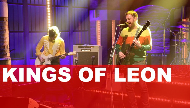"VIDEO: Kings of Leon perform ""Find Me"" on 'Late Night'"
