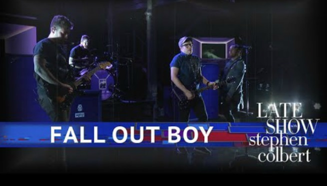 Watch Fall Out Boy perform 'Hold Me Tight or Don't' on 'Late Show'