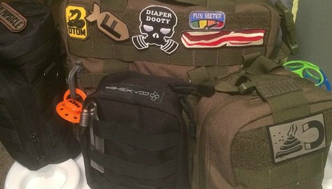 'Tactical Baby-Gear' for Dads spoofed by 'Late Show'