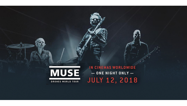 Muse and their drones invade theaters on Thursday!