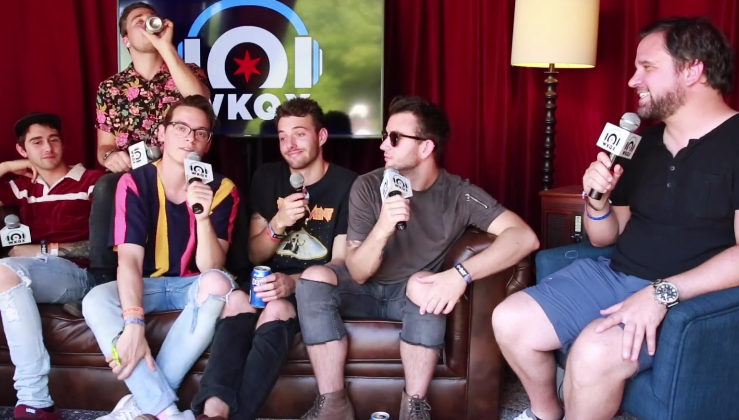 Lollapalooza: Wrecks talk about recording at grandma's house, touring (backstage interview with Brian)