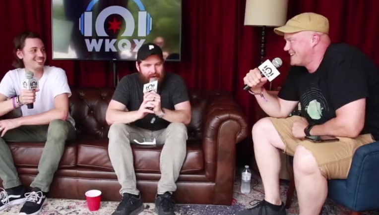 Lollapalooza: Manchester Orchestra 'literally dying' after late night (backstage interview with Eric)