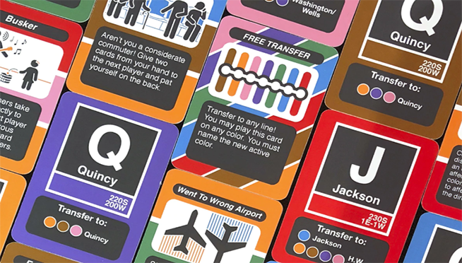 """The CTA """"L"""" now has it's own card game."""