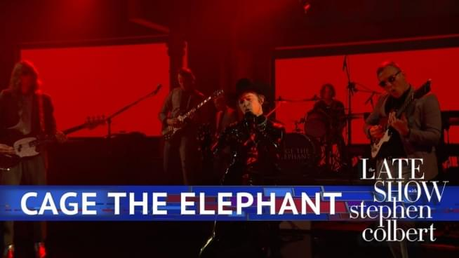 Cage the Elephant on 'Late Show': Matt Schultz has leather and midnight eyes