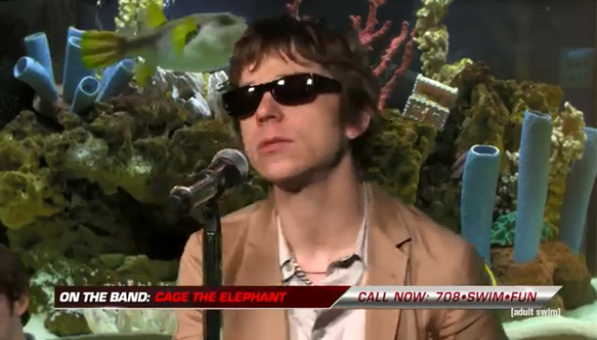 Watch Cage the Elephant play 'Social Cues' for the fishes