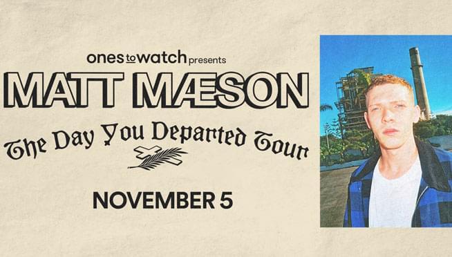 11/5/19 – Matt Maeson