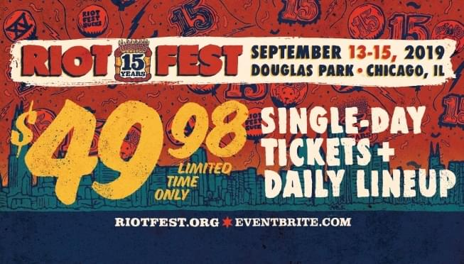 Riot Fest daily lineups are here!