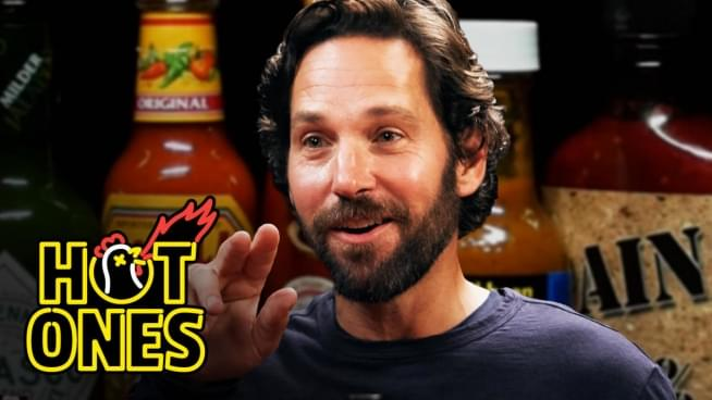 Paul Rudd feels the heat on Hot Ones