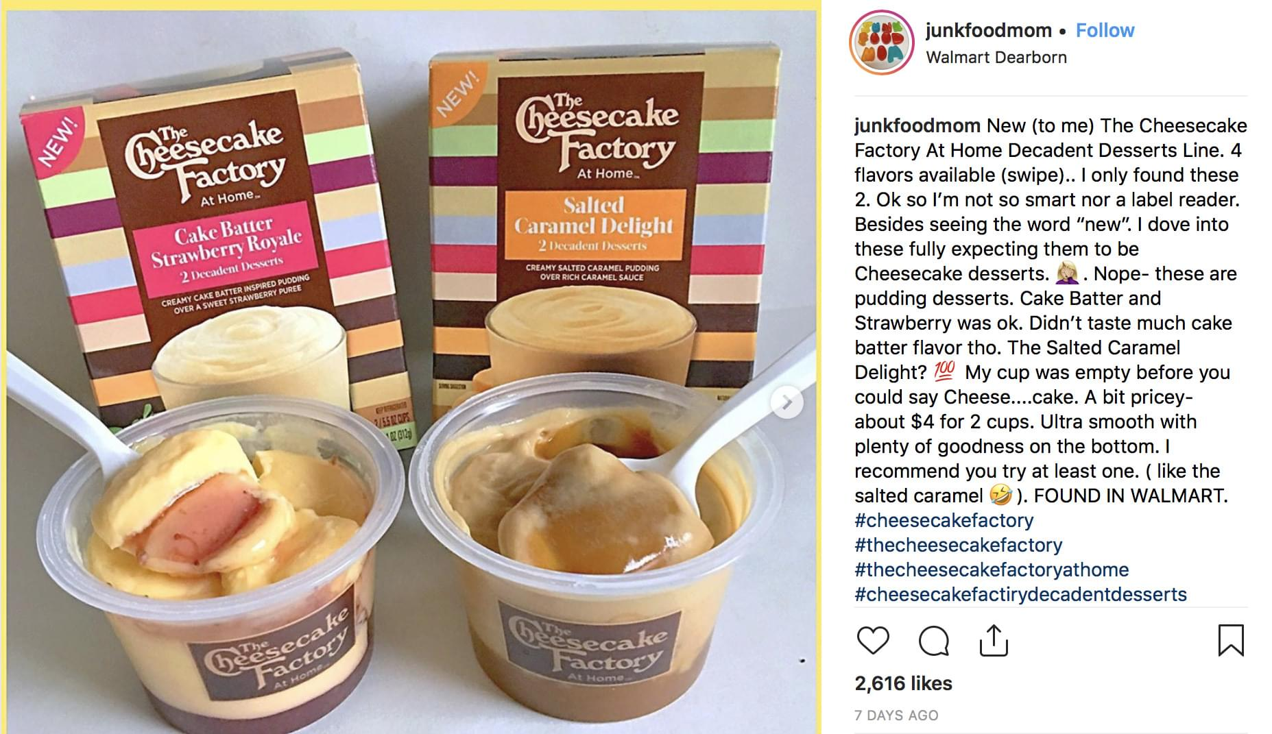 The Cheesecake Factory has released a line of puddings