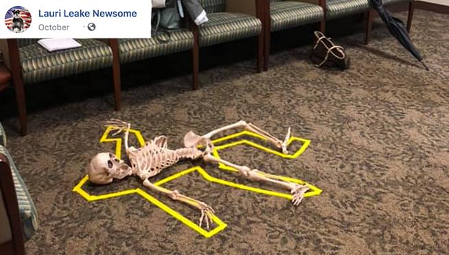 Crime scene Halloween display at District Attorney's Office blasted as 'INSENSITIVE'