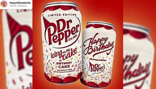 Birthday-Cake flavored Dr. Pepper exists
