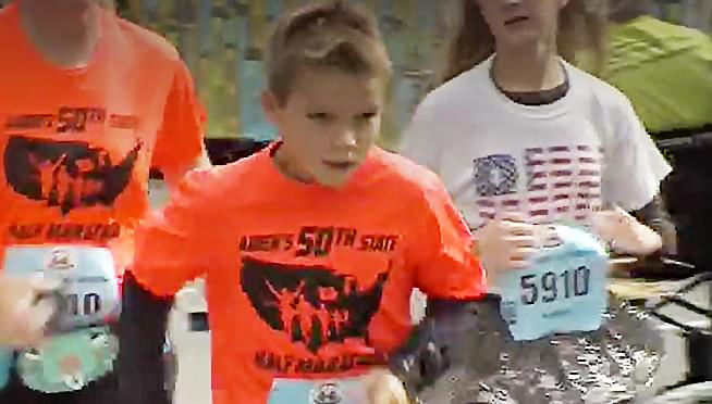 Illinois boy completes quest to run half-marathon in all 50 states