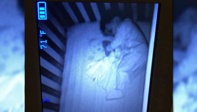 Naperville Mom spots GHOST BABY ON baby monitor