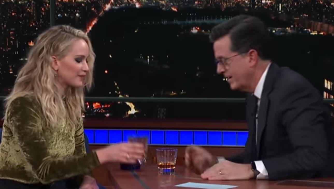 Watch Jennifer Lawrence knock back 3 rum shots