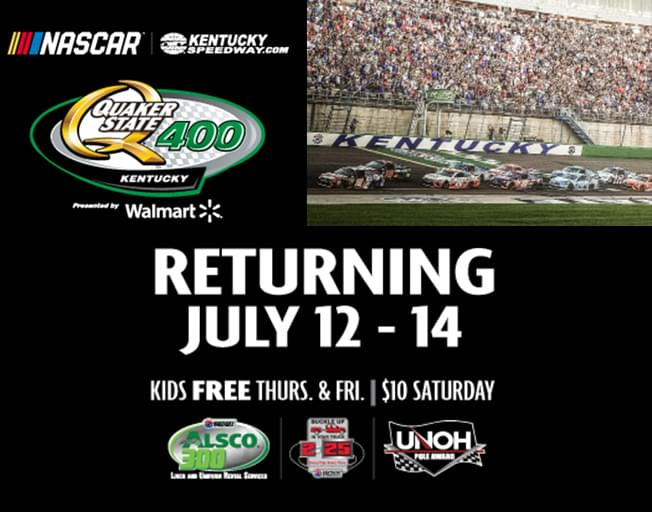It's Winning Wednesday! B104 is Giving You a 4-Pack to the Quaker State 400 NASCAR Race