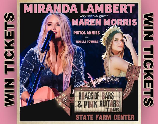 Win Tickets To Miranda Lambert With The B104 Text Club