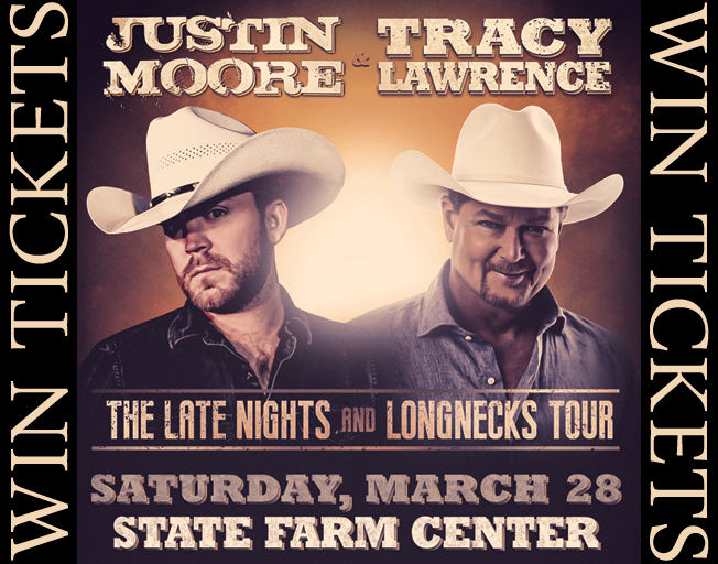 Win Tickets To Justin Moore And Tracy Lawrence With The B104 Text Club