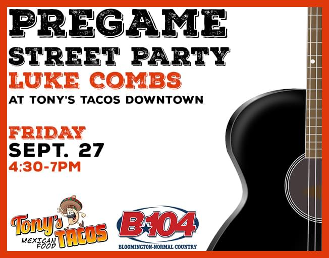 Win Luke Combs Tickets And Meet & Greet Passes With A Pre-Party At Tony's Tacos