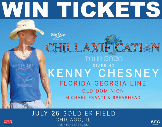 "Win Kenny Chesney ""Chillaxification Tour"" Tickets with B104"