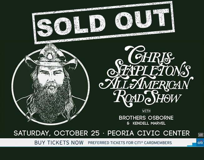 Win Tickets to SOLD OUT Chris Stapleton in Peoria with B104
