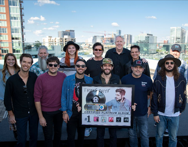 Thomas Rhett Celebrates #1 Songs, Gold and Platinum Certifications