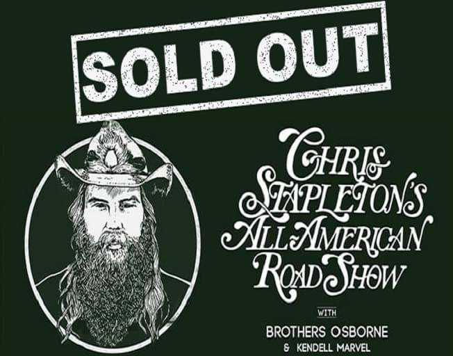 Win Tickets To The SOLD OUT Chris Stapleton Show With The B104 Text Club