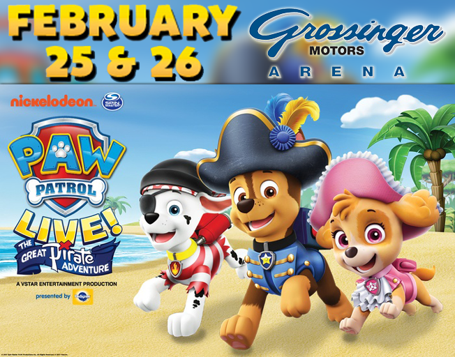 """PAW Patrol Live! """"The Great Pirate Adventure"""" is coming to Bloomington!"""