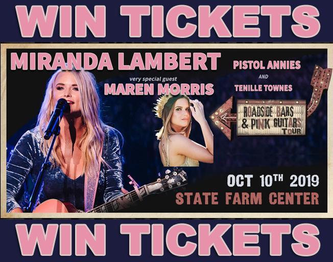 Text2Win Miranda Lambert Tickets with 93.7 NASH Icon