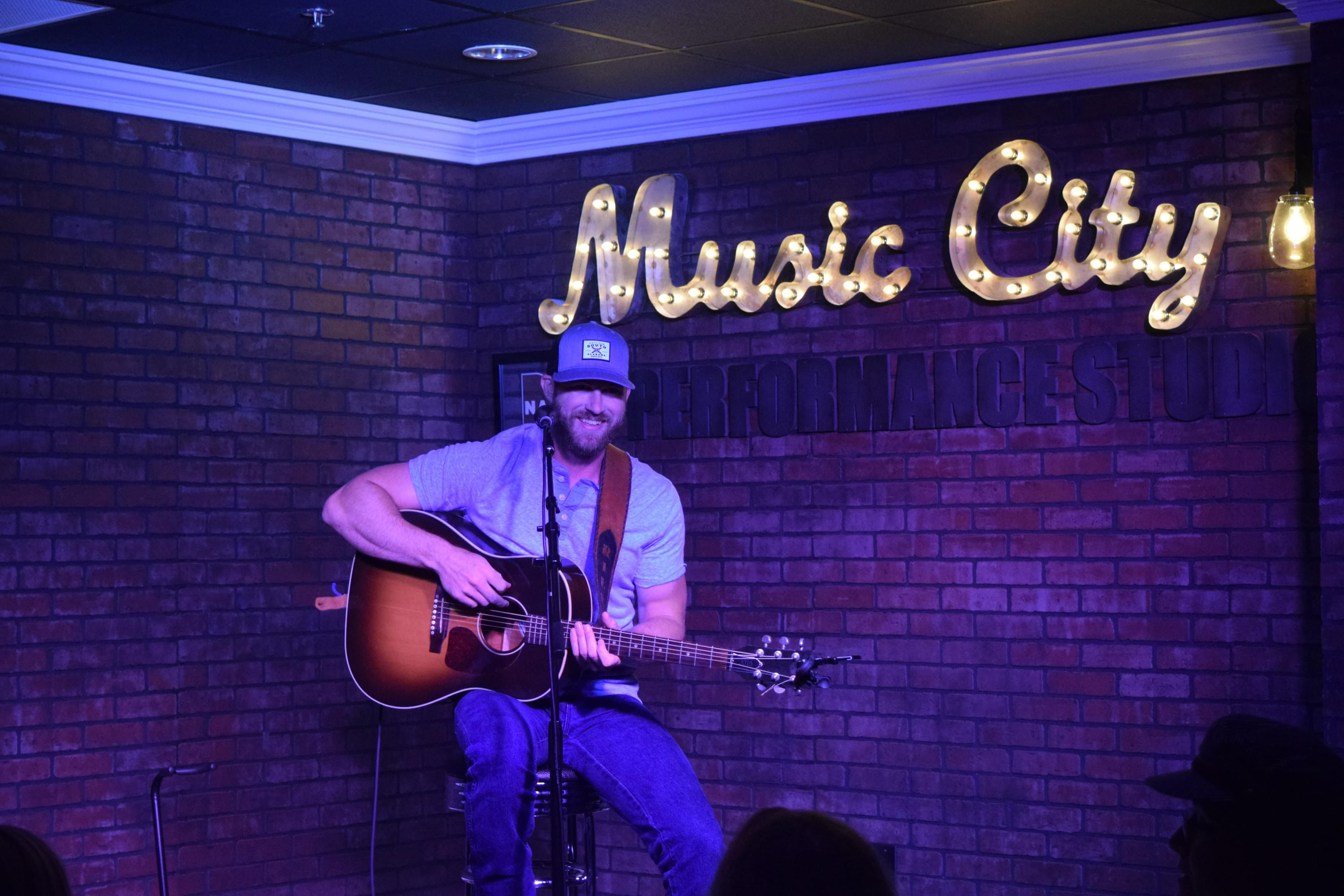 Riley Green in the Music City Performance Studio!
