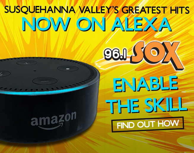 Play 96.1 SOX on your Alexa-enabled device!