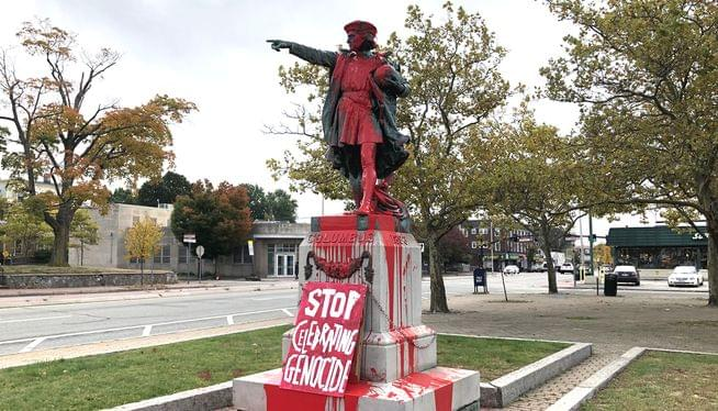 Elorza says he's open to considering moving Columbus statue