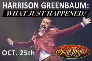 Harrison Greenbaum at the State Theatre October 25th