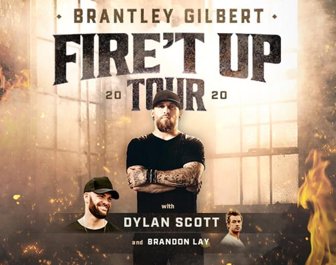 """Brantley Gilbert """"Fire't Up"""" Tour 2020"""