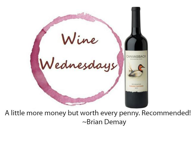 Brian's Wine Wednesday: Canvasback Cabernet Sauvignon